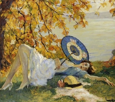 lazy woman